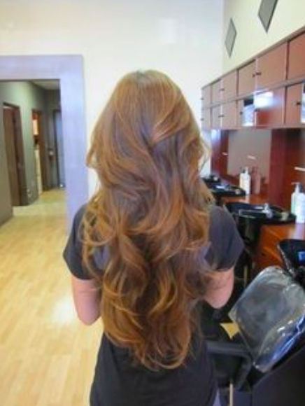 Long Hair with a V Shape Cut at the Back , Women Hairstyles