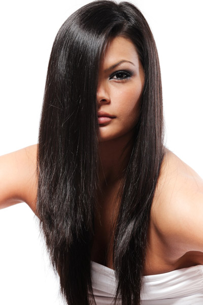 Long Hair with a V Shape Cut at the Back - Women Hairstyles