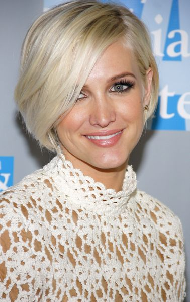 Ashlee Simpson Asymmetrical Bob Women Hairstyles