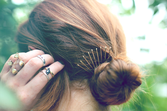 Bobby Pin Bun Crown
