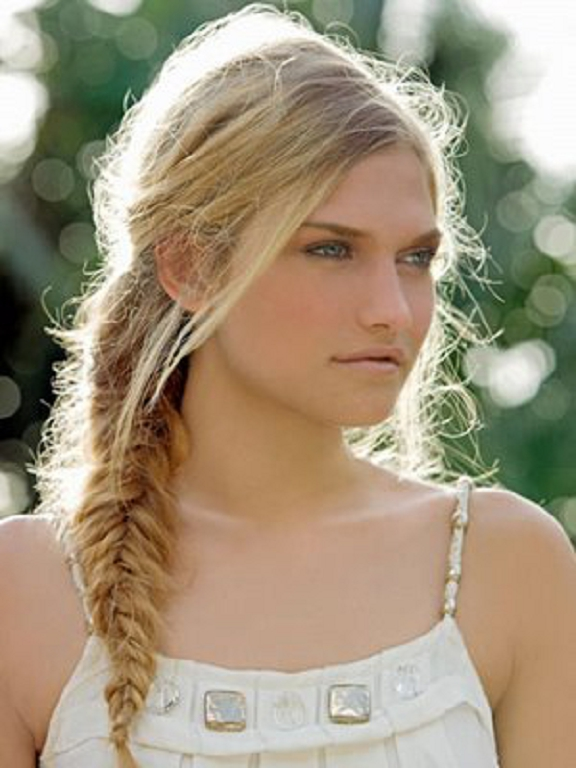 in style hair 2014 summer hairstyle fishtail braid hairstyles 8372