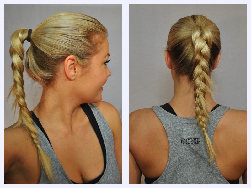 Gym Hair- Pony Tail Braid
