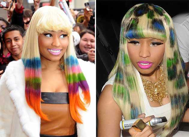 Rainbow Colored Hair Dye Celebrities Photos Women Hairstyles
