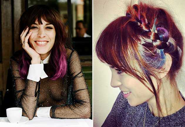 styles of dying hair rainbow colored hair dye photos hairstyles 9380