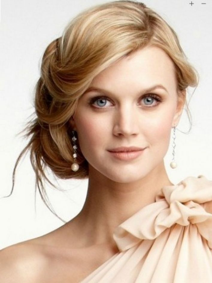 Blonde Side Bun Hairstyle Jpg Women Hairstyles